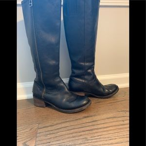 Size 7 lucky brand leather boots.